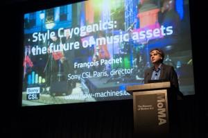 François Pachet presenting Style Cryogenics